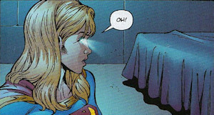 Supergirl using X-ray vision