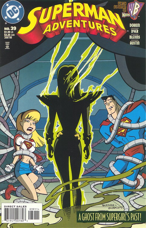Superman Adventures #39 cover featuring Supergirl and Superman