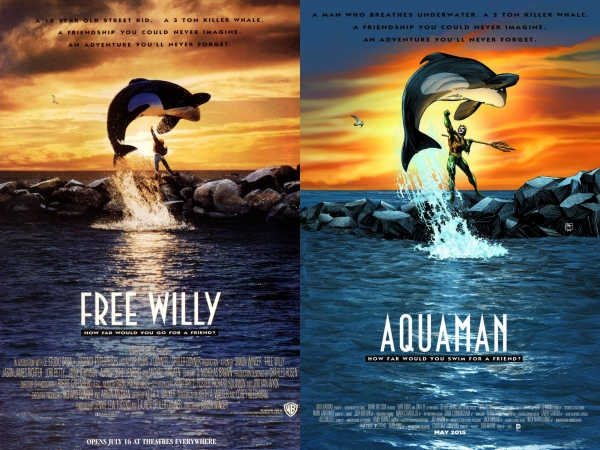 Aquaman-Comic-Free-Willy-Movie-Cover