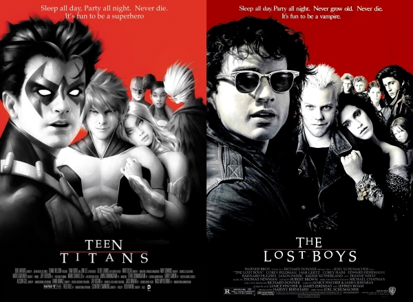 Teen-Titans-Comic-Lost-Boys-Movie-Cover