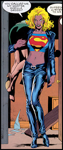 Supergirl under Gorilla Grodd's influence