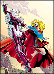 Supergirl and Comet