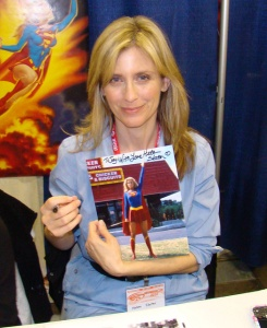 Helen Slater with autographed photo