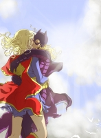 Supergirl-and-Batgirl-by-yellowis4happy