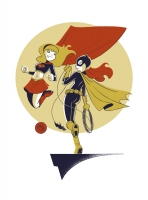 Supergirl-Batgirl-Commission-by-Mike-Maihack-01