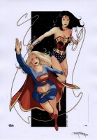 Supergirl-and-Wonder-Woman-by-Bary-Kitson