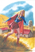 Supergirl-by-Steve-Rude-Watercolor-20x30-Painting