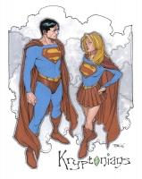 Supergirl-by-Travis-Charest-Superman