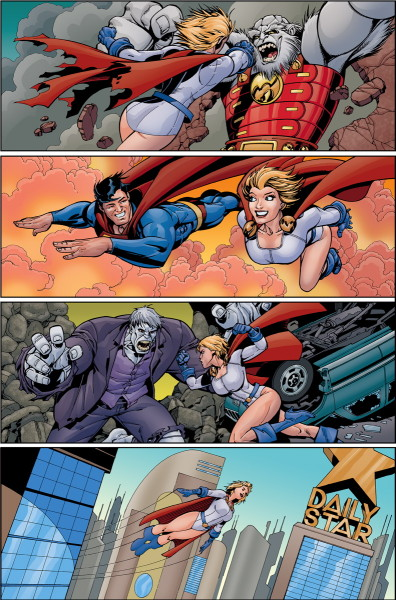 Convergence: Action Comics interior art
