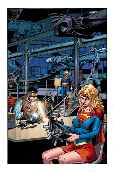 Convergence: Adventures of Superman interior art