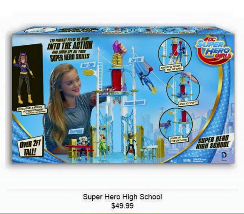 DCSHG Super Hero High School Playset, $49.99 USD
