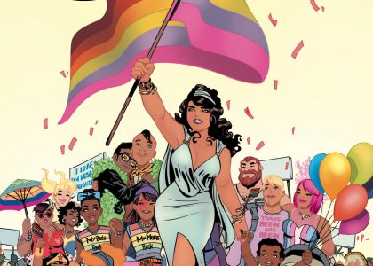 """Love is Love"" Variant Cover by Elsa Charretier with colors by Jordie Bellaire"