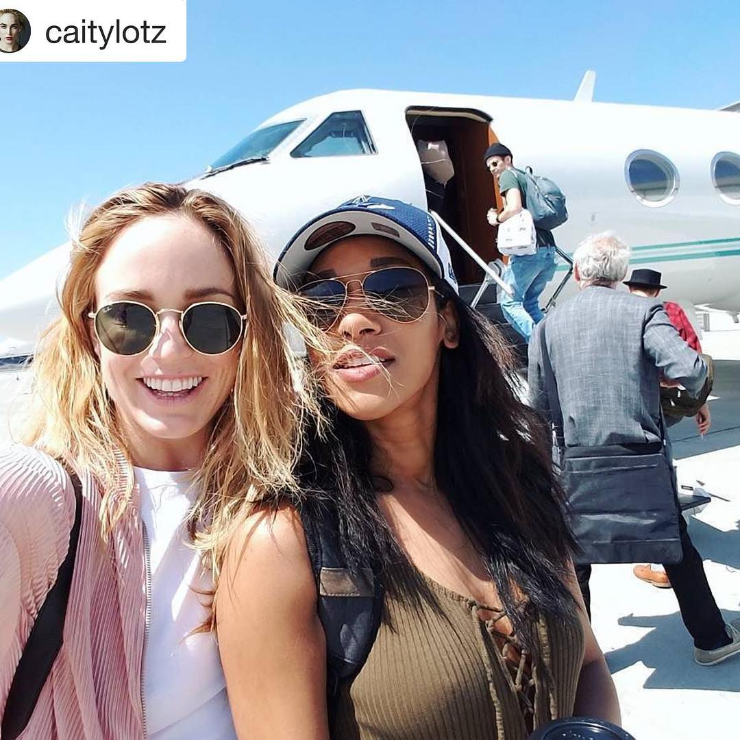 SDCC Caity Lotz and Candice Patton