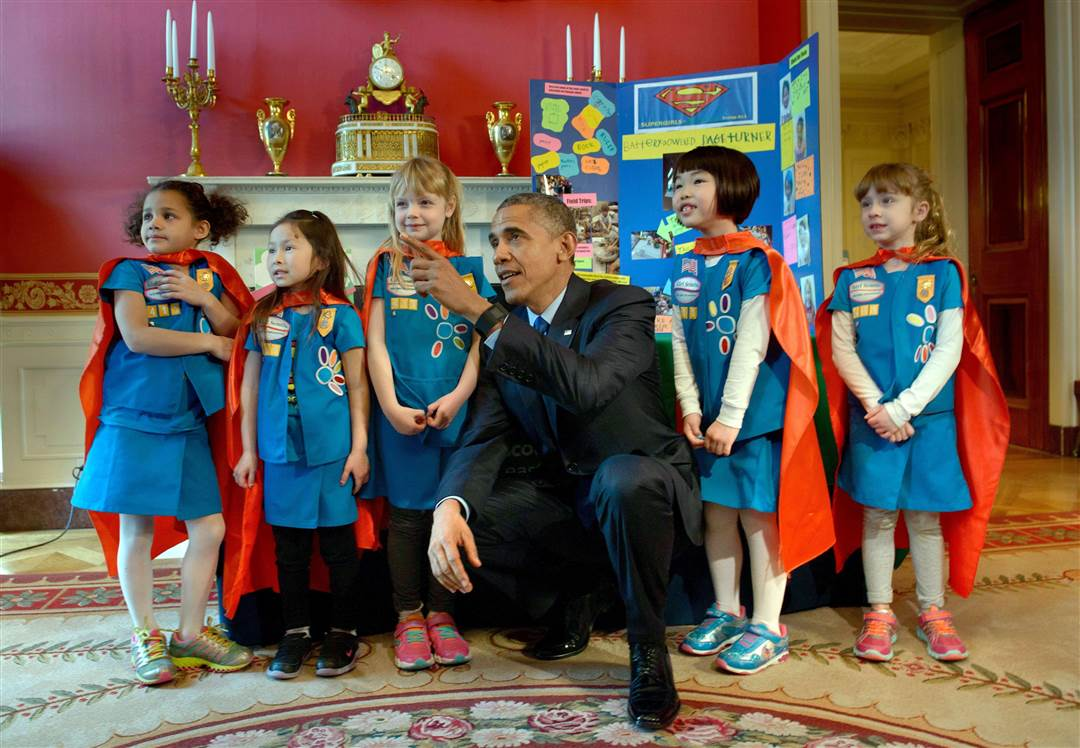 Super Girl Scouts Obama Whitehouse
