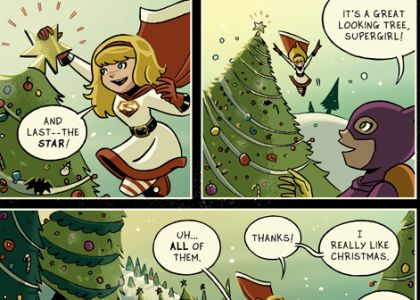 """Supergirl/Batgirl Christmas 2013"" by Mike Maihack"