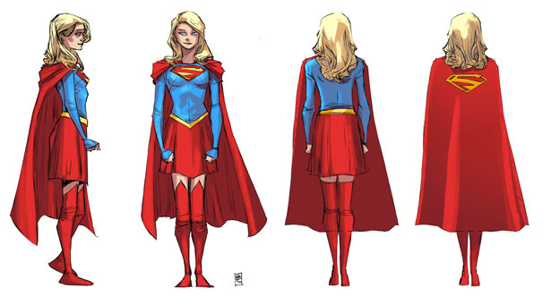 Supergirl-character-turnarounds