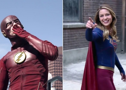 SupergirlxTheFlash - Behind The Scenes