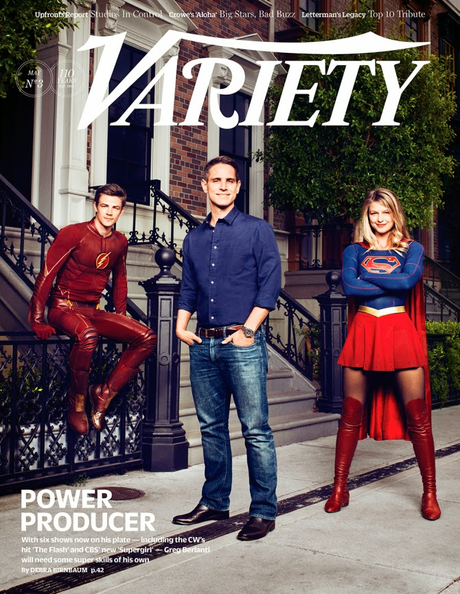 Variety Magazine Flash and Supergirl Cover