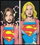 Left: Linda / Right: Supergirl