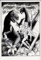 Supergirl-Dinosaur-by-Jim-Mooney