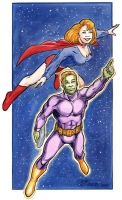 Supergirl-and-Brainiac-5-by-Gene-Gonzales-Oct-05-2008
