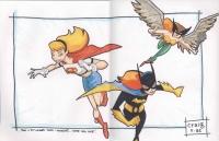 Supergirl-by-Craig-Rousseau-Batgirl-Hawkwoman