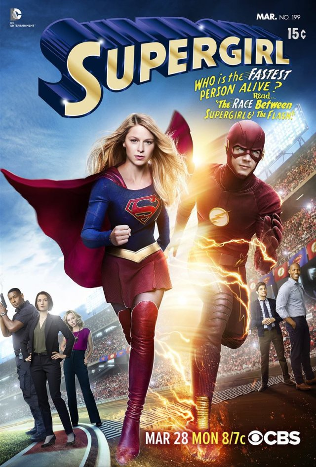 Supergirl The Flash Poster 640x987